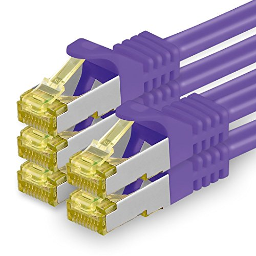 Cable de Red Cat.7 (Sftp Pimf) 10 GB/s RJ45 Cat6a Violeta 1m