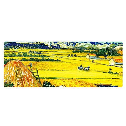 YVQLXJ Tapis de Souris Gamer Scène agricole de peinture à l