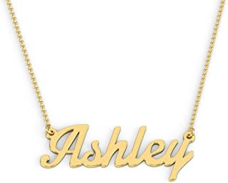 14K Gold Personalized Name Necklace in Glamorous Font by JEWLR