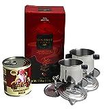 Trung Nguyen Vietnam Kaffee Set! Gourmet Mischung+2 Kaffeesiebe+1 Kondensmilch gratis