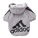DULEE Adidog Manteau chaud à capuche en coton pour chien