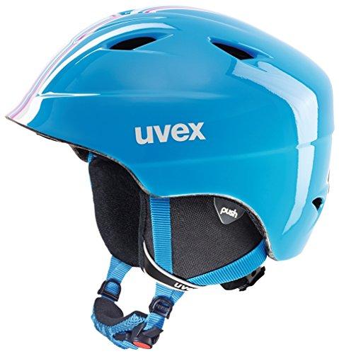 Uvex Kinder Airwing 2 Race Skihelm, Cyan-Pink, 48-52 cm