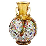 Anfora Amber - Jarrón - Cristal de Murano Millefiori