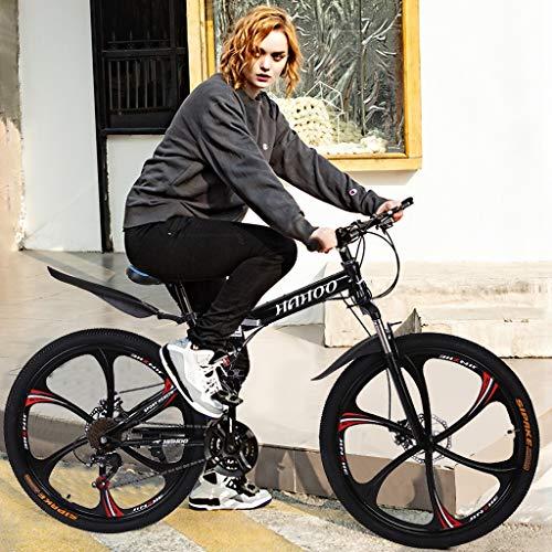 TUTI 26in Mountain Bike, Full Suspension Road Bikes with Disc Brakes, 21 Speed Bicycle Full Suspension MTB Bikes for Men/Women