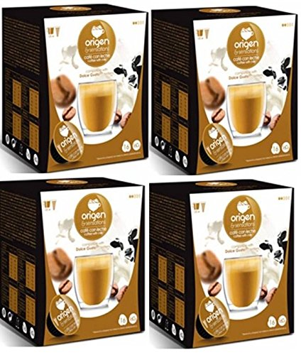 Cápsulas Compatibles Dolce Gusto®* Origen Sensations Café Con Leche 64 bebidas