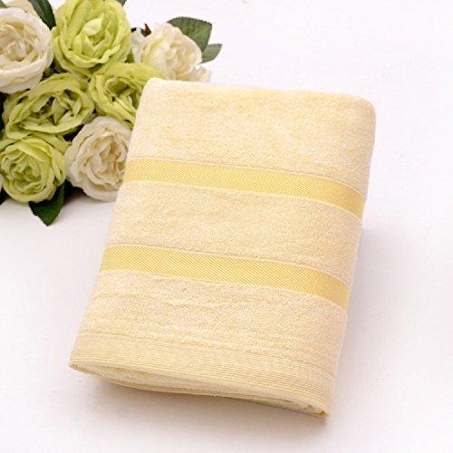 Mush Ultra Soft, Absorbent 450 GSM Bamboo Bath Towel (Yellow)