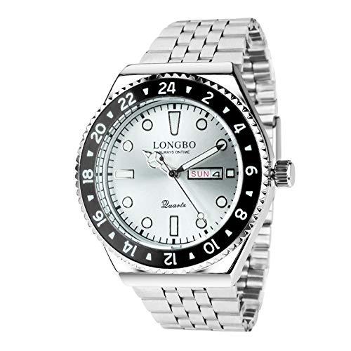 SC Crystal - Reloj de cuarzo para hombre, metal rodiado