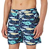 Hackett London Big Fish Swim Trunks, Azul Marino, S para Hombre
