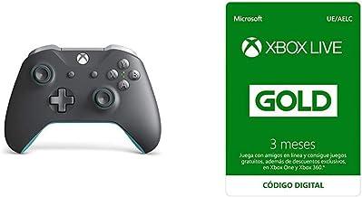 Microsoft - Mando Inalámbrico, Color Gris y Azul (Xbox One) + Suscripción Xbox Live Gold - 3 Meses