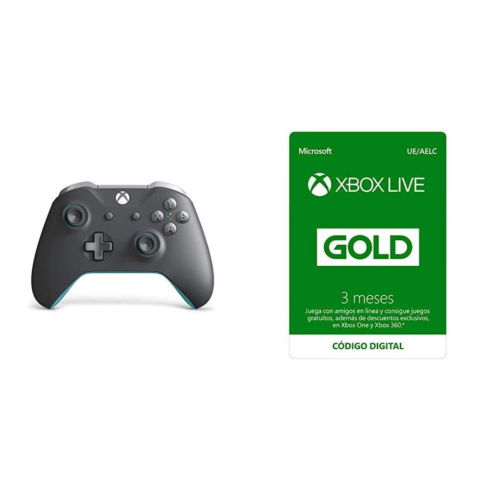 Microsoft - Mando Inalámbrico, Color Gris y Azul (Xbox One) + ...