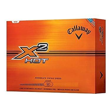 Callaway X2 Hot Golf Balls, White
