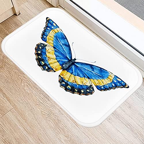 OPLJ Felpudo con patrón de Mariposa de Diente de león, Felpudo de Alfombra Antideslizante, Alfombra de Piso de Cocina y Sala de Estar al Aire Libre A21 40x60cm