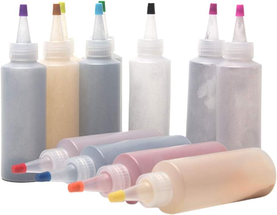 HOMYY Juego de 12 rotuladores de tela de colores, para manualidades, ropa, colores textiles con bandas de goma, mantel, para proyectos de manualidades ...
