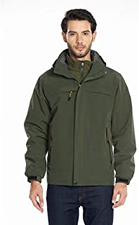 New Waterproof Jackets for Men Outdoor Mountaineering Clothing Two-Piece Three-in-one Warm Coat