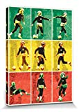 1art1 Bob Marley - Football Cuadro, Lienzo Montado sobre Bastidor (80 x 60cm)