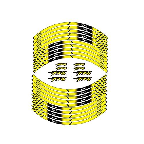 Wfrspavey Etiqueta de Rueda Reflectante de la Motocicleta Neumático de la decoración de la decoración de la decoración de la decoración Adhesiva Compatible con YA*MA*HA fz6 hnyxs (Color : 2)