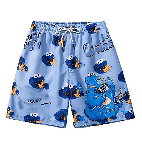 N\P Pantalones de playa de secado rápido para hombre, pantalones de natación de doble capa con forro para parque acuático