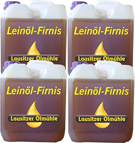 Leinölfirnis 20 Liter Leinöl Firnis (4 x 5 Liter) Lausitzer Holzschutz doppelt gekocht und harzfrei