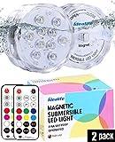 Idealife Luz Sumergible, Grande Cambio de Color RGBW Agua Densidad LED Leuchten con Ventosas Imán y Mando a Distancia, Luces para Piscinas, Lluminación para Estanque Bañera Fiesta Acuarios y Peceras
