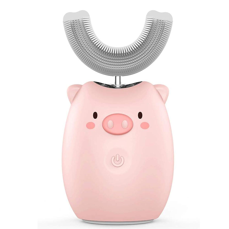 部門レイプ豆子供用電動歯ブラシ 歯磨きすきになる UV除菌 風乾 ワイヤレス充電 虫歯予防 U型ブラシ コップ付け 2-6才用 日本語説明書