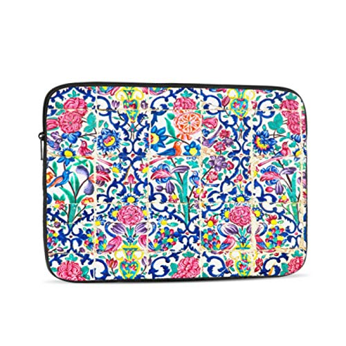 A1707 Macbook Pro Case Colorful Retro Romantic Art Flower 12 Inch Macbook Case Multi-Color & Size Choices10/12/13/15/17 Inch Computer Tablet Briefcase Carrying Bag