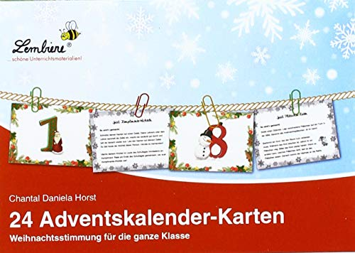 24 Adventskalender-Karten (KS): Grundschule, Organisation & Ratgeber, Klasse 1-4