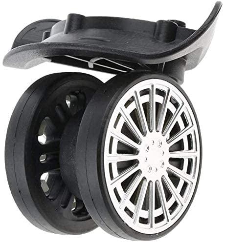 Ruedas en movimiento Ruedas de la carretilla ruedas de ruedas para muebles 1 par de rollos de equipaje Ruedas giratorias Mute Casilla Ruedas de reemplazo Accesorios de viaje para herramientas de repar