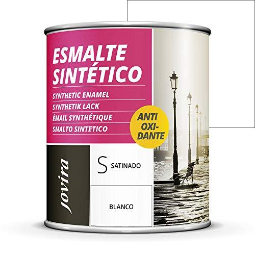 ESMALTE DIRECTO SOBRE OXIDO ANTIOXIDANTE SATINADO Para la protección y decoración de superficies de madera, hierro y acero. (750 ml, BLANCO)