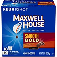 MAXWELL HOUSE Smooth Bold K-Cup Pods Coffee, 18 Count