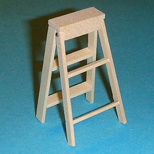 Miniatures World - Houten trapladder voor miniatuurdecors en poppenhuizen in schaal 1:12