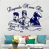 Papier Peint Amovible Grand Rappeur Hip Hop Vinyle Citations inspirantes Famille Mot Autocollants Salon Chambre décoration Murale