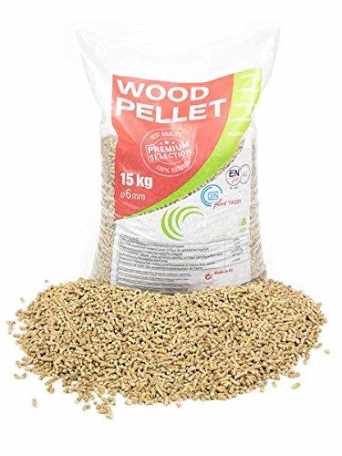 Holzpellets mit Qualitätsgütesiegel (EN+ A1 / DIN +); 975 kg verpackt auf Paletten zu 65 x 15kg Säcken
