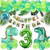 KATELUO Decoracion Cumpleaños Dinosaurios,Selva Fiesta de Cumpleaños Decoracion, Selva Fiesta de cumpleaños decoracion Niño,Decoración de globos de cumpleaños para niños. (3)