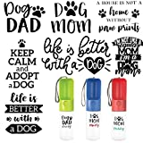 Portable Dog Water Bottle, Lightweight Outdoor Leak Proof Pet Water Dispenser, BPA Free, 15oz (Customization)
