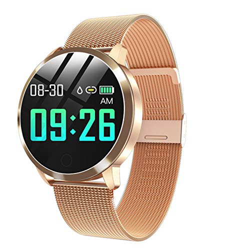 Gulu Q8plus Smart Watch Mujeres IP67 Smartwatch Femenino Reloj De Pulsera Ritmo Cardíaco Presión Arterial Dama Pulsera Regalo Bluetooth Watch Vs KW10,A