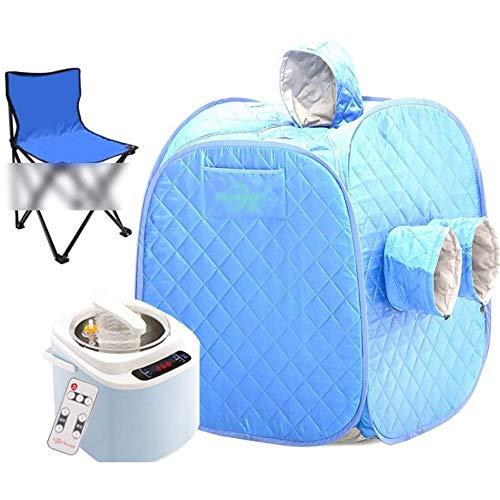 GFSD Spa Dampfer Saunazelt for Ganzkörper-Abnehmen Abnehmen Fernbedienungstemperatur Wind und Feuchtigkeit Ausstoßen 110 V / 220 V, 5 Farben (Color : Blue)