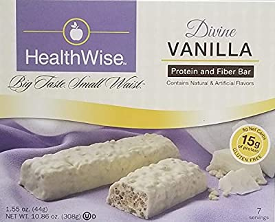 Divine Vanilla Diet Weight Loss Bar 15 Grams of Protein By Fit Wise