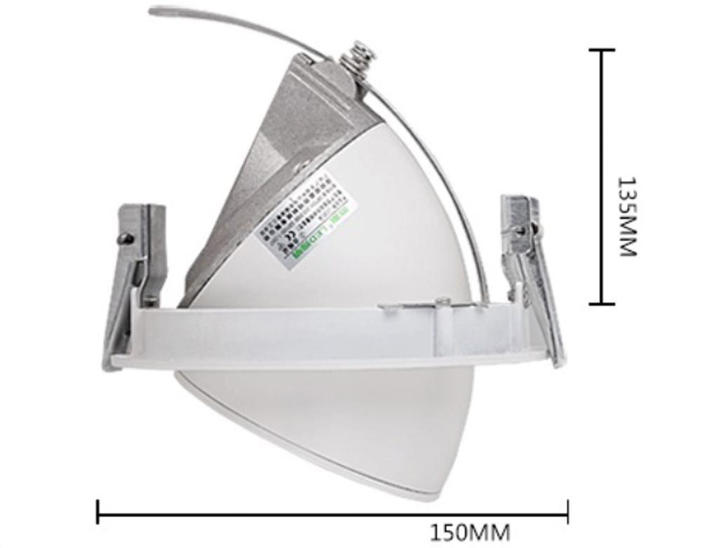 luz de bulbo llevada 5w7w10w15w20w30w azulejo de la tienda de la ropa empaqueta el condensador 12.5cm * 8cm, los 15cm * 13.5cm, los 18.5cm * 16cm de la luz de techo del