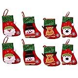 4 PCS Lentejuelas medias de Navidad 6 pulgadas mini medias personalizadas medias de navidad ornamento bolsa de regalo bolsa de caramelo for fiesta de vacaciones Familia Chimenea Party Decoración del h