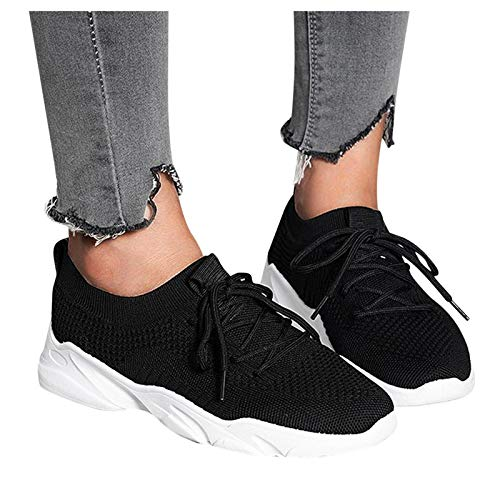FACAIAFALO Zapatillas Deportivas De Mujer Zapatos De Ligero Running Fitness Zapatillas De Para Correr Antideslizantes AmortiguacióN Sneakers Zapatillas Con Cordones