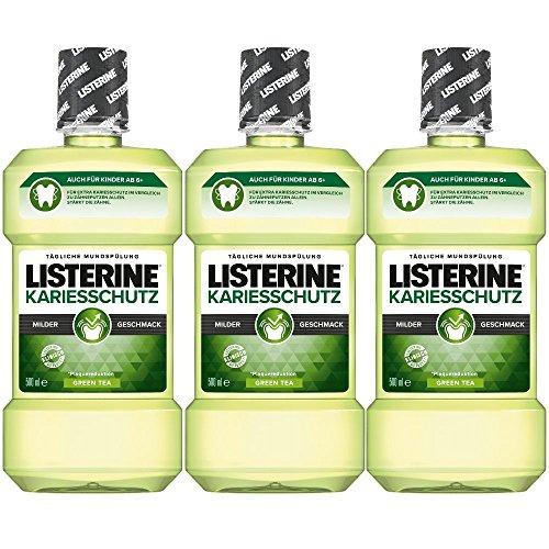 Listerine Kariesschutz Antibakterielle Mundspülung mit milderem Geschmack, 3er Pack (3 x 500 ml)