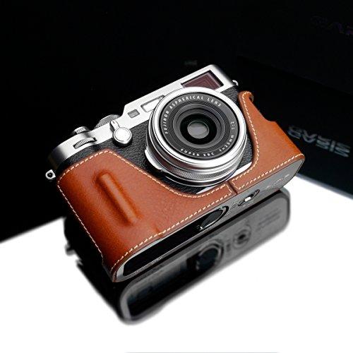 Gariz HG-X100FCM Genuine Leather Half Case for Fujifilm Fuji X100F, Camel Brown