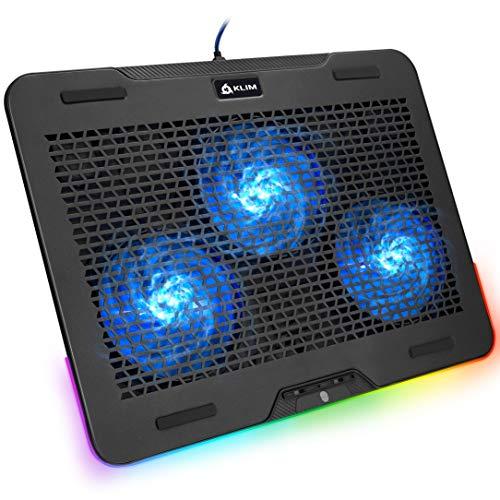 KLIM Aurora + Laptop-RGB-Kühler- 11 bis 17 Zoll + Laptop-Gaming-Kühlung + USB-Lüfter + Stabil und leise + Mac- und PS4-kompatibel + Neuheit 2021