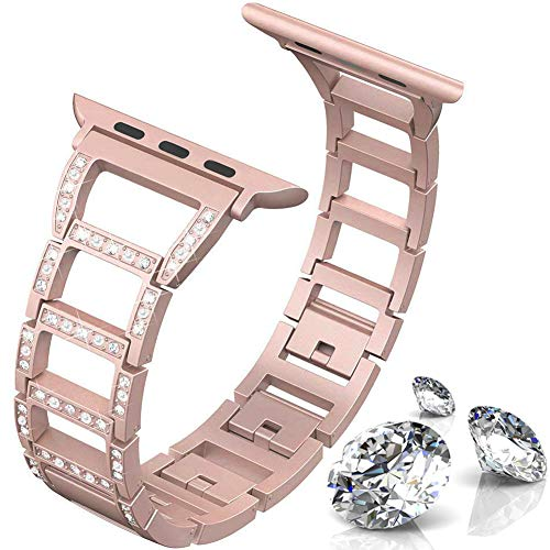 ITSHINY Replacement for Apple Watch Armband 38/40mm,Damen Metall Band für Iwatch Series 4 3 2 1(38/40mm, pink)
