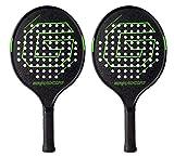 Platform Tennis Paddle Racket Pro Carbon Fiber Power Lightweight Paddles Padel Racquet (2pcs Black-Green)
