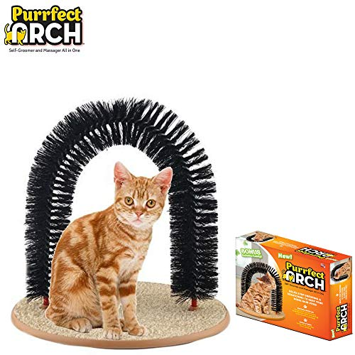 Purrfect Arch Self Grooming and Massaging Cat Toy- Reduce Shedding & Scratching  To Keep Your Home...