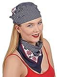 Andrea-Moden Marine Halstuch Bandana zum Kostüm als Matrose Matrosin - Accessoire Kostüm Seefahrer Schiffsratte