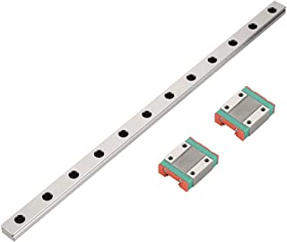 MGN12 300mm Miniature Linear Rail Guide with Bearing Steel Rail Block for 3D Printer and CNC Machine