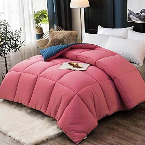 Laoling Four Seasons Quilt Winter Thickened Warm Cotton Quilt Double Air Conditioning Core Duvet Quilt Single Autumn Comforter Rose red 200x230cm 4000g