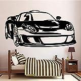 Clásico coche deportivo mural arte de la pared carteles para la habitación de los niños pegatinas de pared de la sala de estar pegatinas de pared decorativas A8 57x110cm